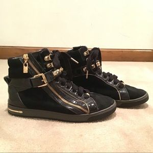 0b438aab23b61 Women s Michael Kors Studded Leather Sneakers on Poshmark